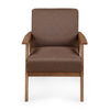 Nilkamal Layla 1 Seater Sofa Light Walnut