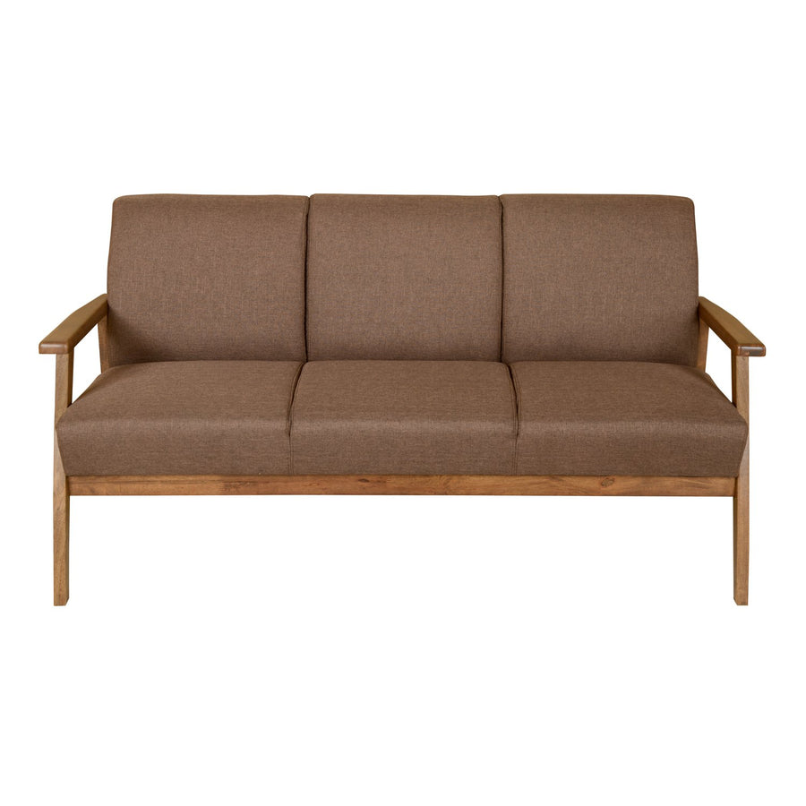 Nilkamal Layla 3 Seater Sofa Light - Walnut