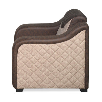 Nilkamal Belinda 1 Seater Sofa (Brown/Cream)
