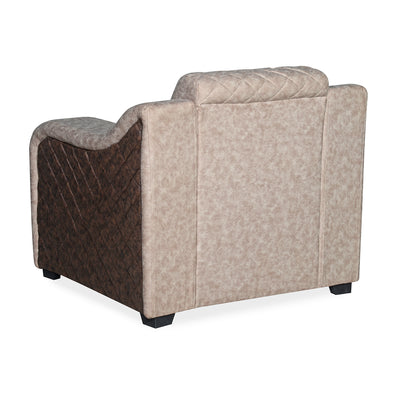 Nilkamal Belinda 1 Seater Sofa (Cream/Brown)