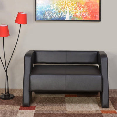 Nilkamal Bradd 2 Seater Sofa (Black)