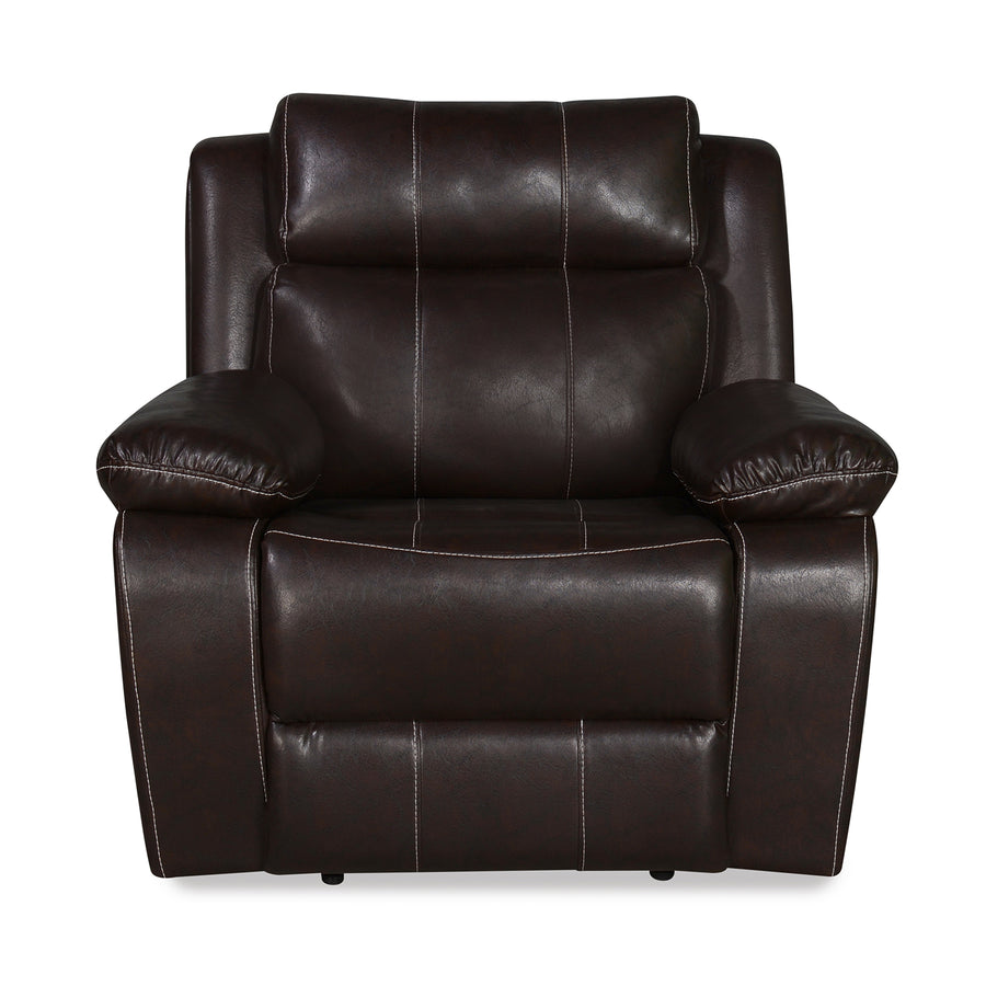 Nilkamal Commander 1 Seater PVC Recliner Sofa (Brown)