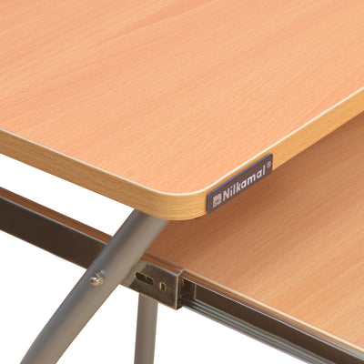 Nilkamal Leo Computer Table (Black/Beach)