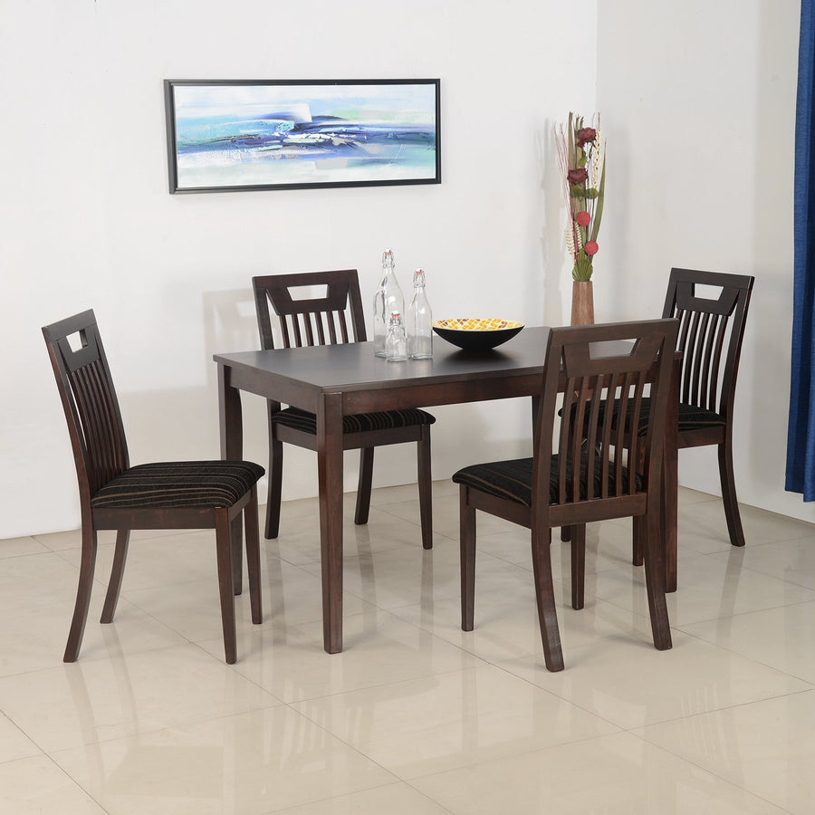 Nilkamal Lexus 4 Seater Dining Table Set (Expresso)