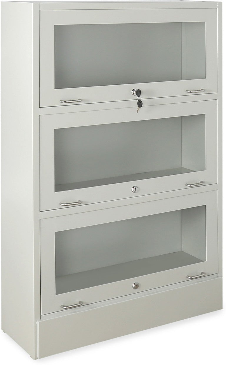 Nilkamal Glaze Book Case with 3 Compartment (Grey)