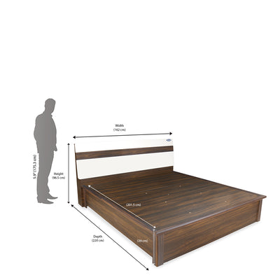 Nilkamal Lodgy New Queen Bed (Brown)