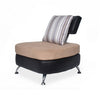 Nilkamal Logan 1 Seater Sofa Pvc - Black/Brown