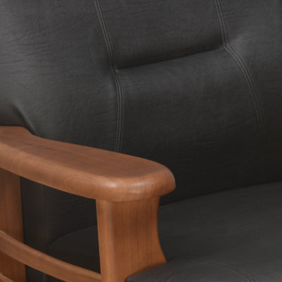 Nilkamal Lords 1 Seater Sofa Pvc Teak/Black