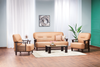 Nilkamal Lords 3 Seater Sofa PVC - Walnut/Brown