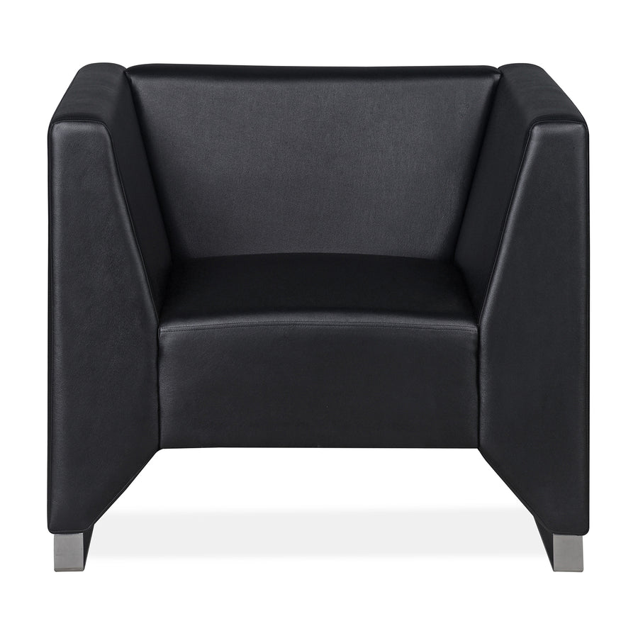 Nilkamal Reed 1 Seater Sofa (Black)
