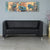 Nilkamal Reed 3 Seater Sofa (Black)