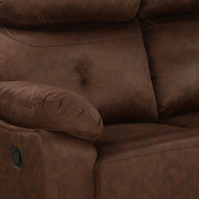 Nilkamal Veraton 3 Seater Recliner Fabric Sofa (Dark Brown)