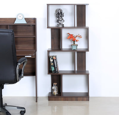 Nilkamal Marco 4 Tier Book Shelf (Walnut)