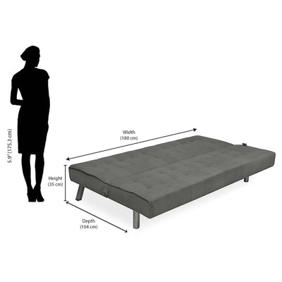Nilkamal Mario Sofa Cum Bed (Grey)