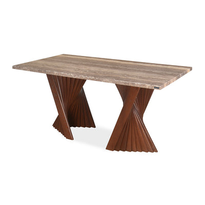 Nilkamal Mensa 6 Seater Dining Table (Walnut)