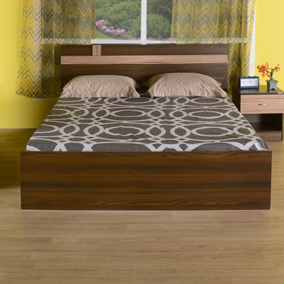 Nilkamal Teana Queen Bed (Classic Walnut)