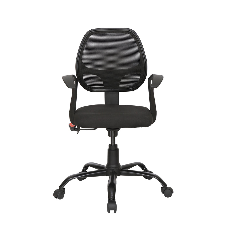 Nilkamal Mustang Mid Back Mesh Chair (Black)