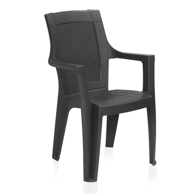 Nilkamal Mystique High Back Chair With Arm (Charcoal Grey)