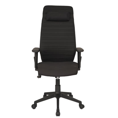 Nilkamal Nile High Back Revolving Chair (Black/Black)