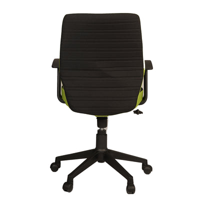 Nilkamal Nile Low Back Revolving Chair (Black/Green)