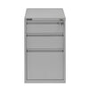 Nilkamal Noah 3 Door Movable Pedestal (Grey)