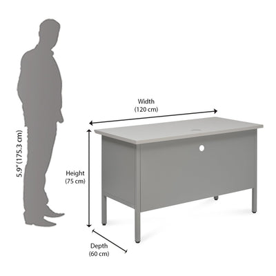 Nilkamal Noah Office Table (Grey)