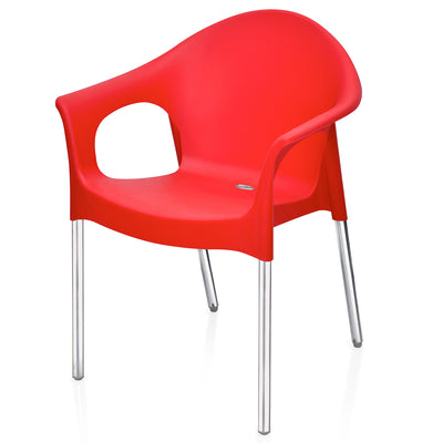 Nilkamal Novella 09 Chair (Bright Red)