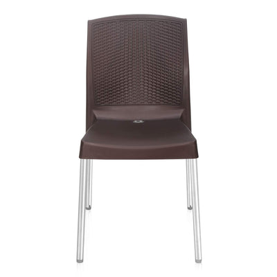 Nilkamal Novella 17 Stainless Steel Chair (Weather Brown)