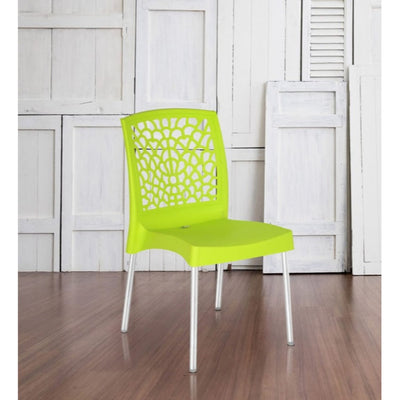 Nilkamal Novella 19 Stainless Steel Chair (Citrus Green)