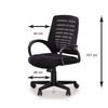 Nilkamal Elantra Mid Back Chair (Black)