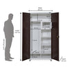 Nilkamal Olymipia 2 Door Wardrobe (Brown/White)