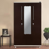Nilkamal Osen 3 Door Mirror Wardrobe (Beige/Brown)