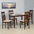 Nilkamal Paula 4 Seater Dining Table Set (Walnut)