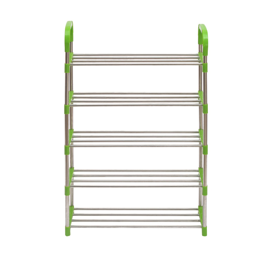 Nilkamal Proxima 5 Layer Iron Shoe Rack - Green