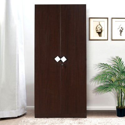 Nilkamal Ranchi 2 Door Wardrobe (Brown Maple)