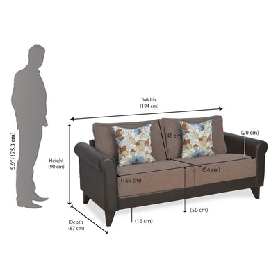 Nilkamal Ripon 3 Seater Sofa