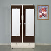 Nilkamal Segur 2 Door Mirror Wardrobe (Beige/Brown)
