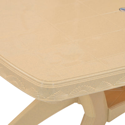 Nilkamal Shahenshah Kross legged Table (Marble Beige)