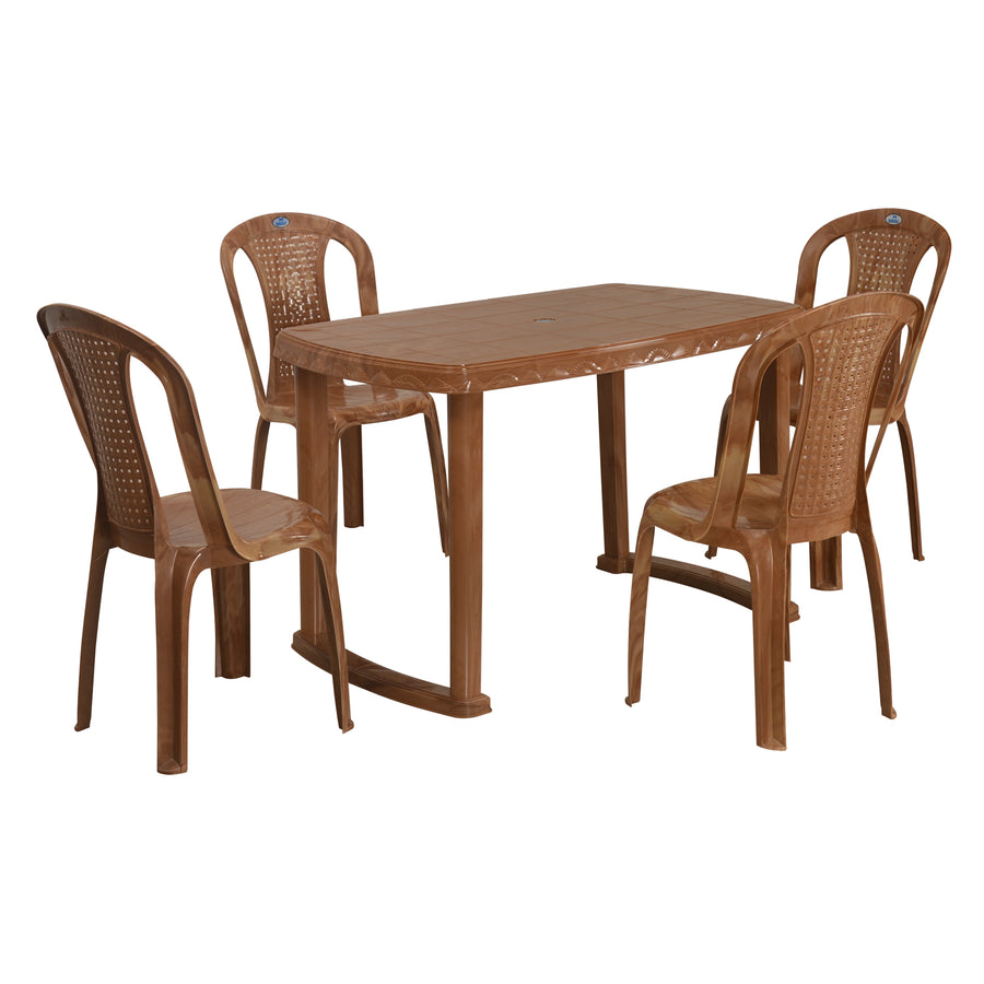 Nilkamal Shahenshah 4 Seater Dining Set (Pear Wood)