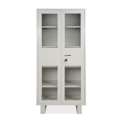 Nilkamal Squardro Glass Door Office Almirah (Grey)