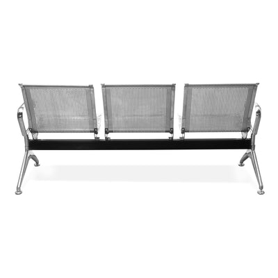 Nilkamal Steelo 3 Seater Bench (Silver)