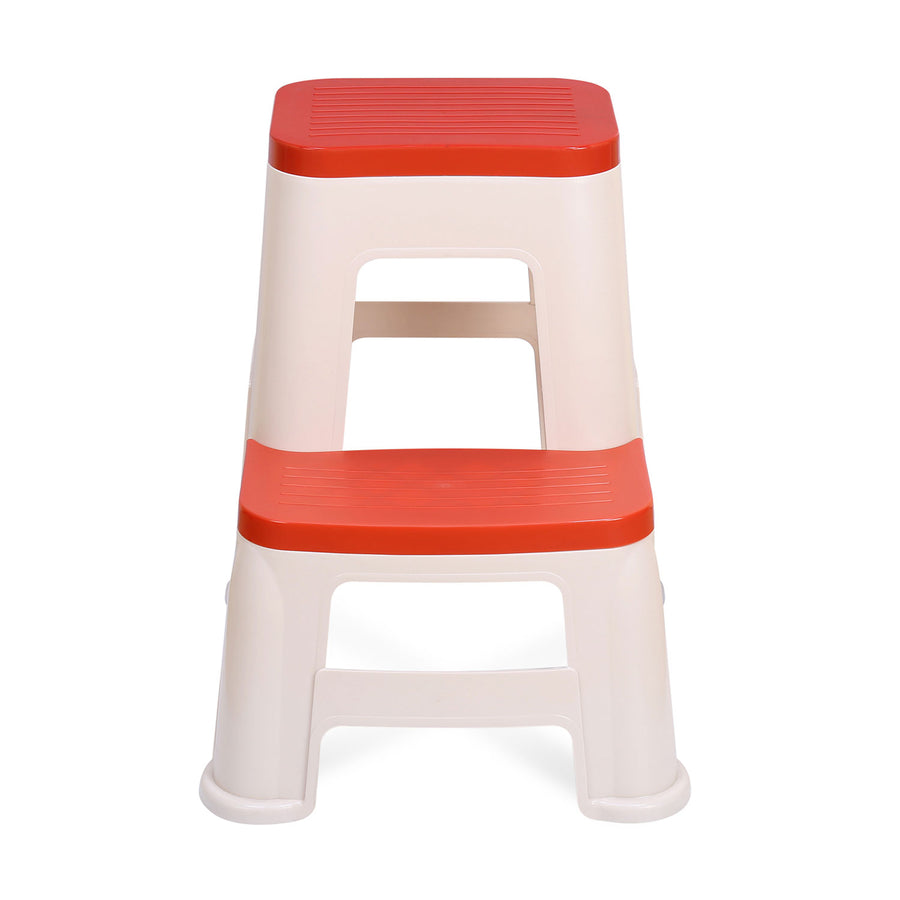 Nilkamal Stool 31 (Basket Beach/ Coral Red)