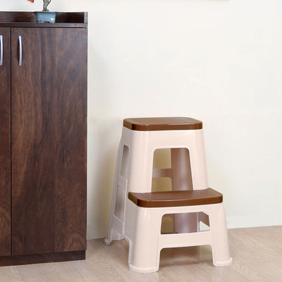 Nilkamal Stool 31 (Basket Beach/ Rattan Dark Beige)