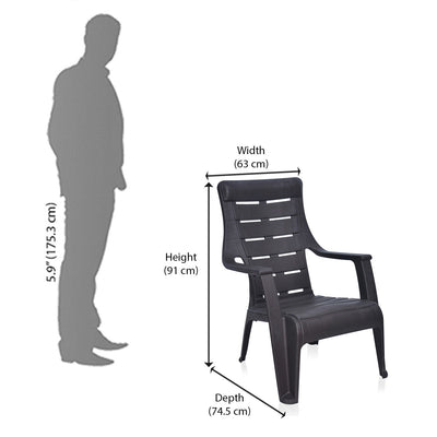 Nilkamal Sunday Chair (Weather Brown)