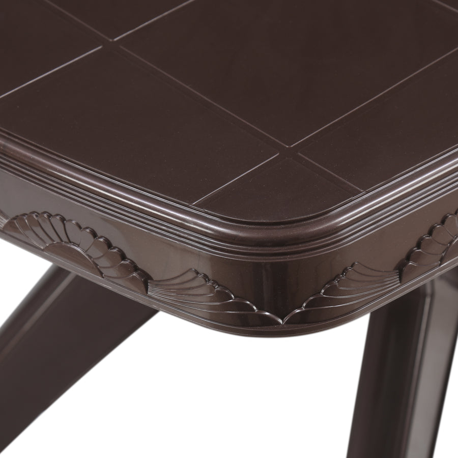 Nilkamal Shahenshah Kross legged Table (Weather Brown)