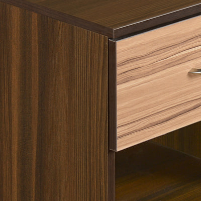 Nilkamal Teana Bed Side Table (Classic Walnut)