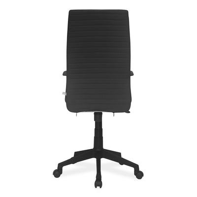 Nilkamal Thames High Back Fabric Chair (Black)