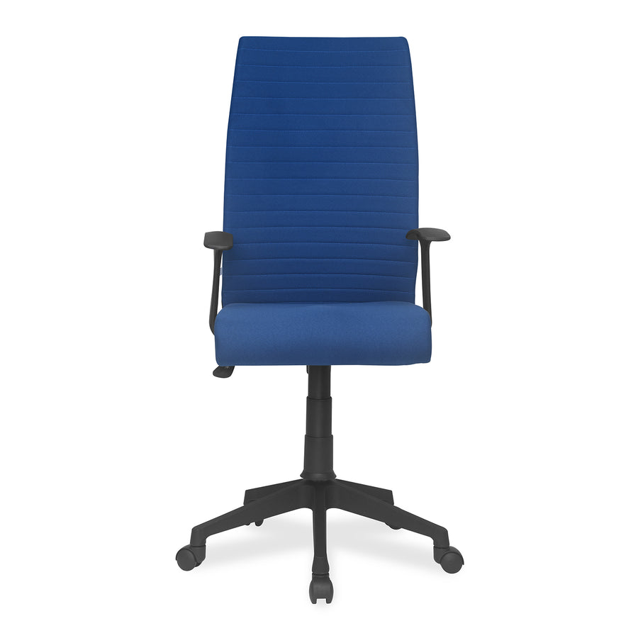 Nilkamal Thames High Back Fabric Chair (Blue)