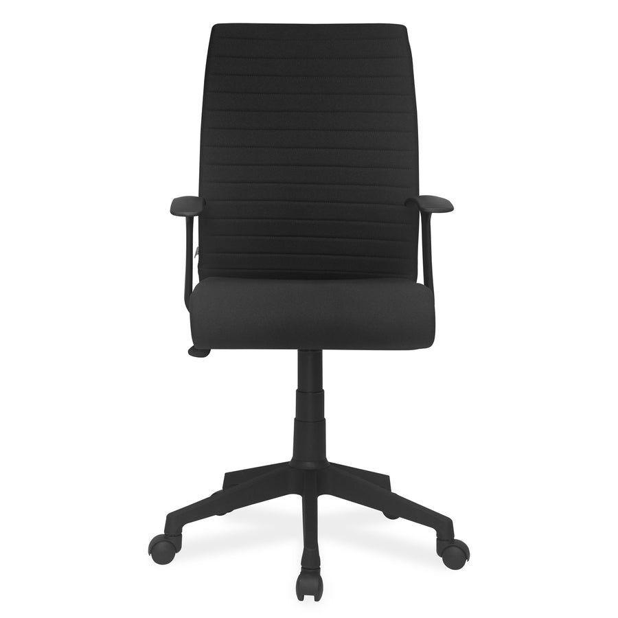 Nilkamal Thames Mid Back Fabric Chair (Black)