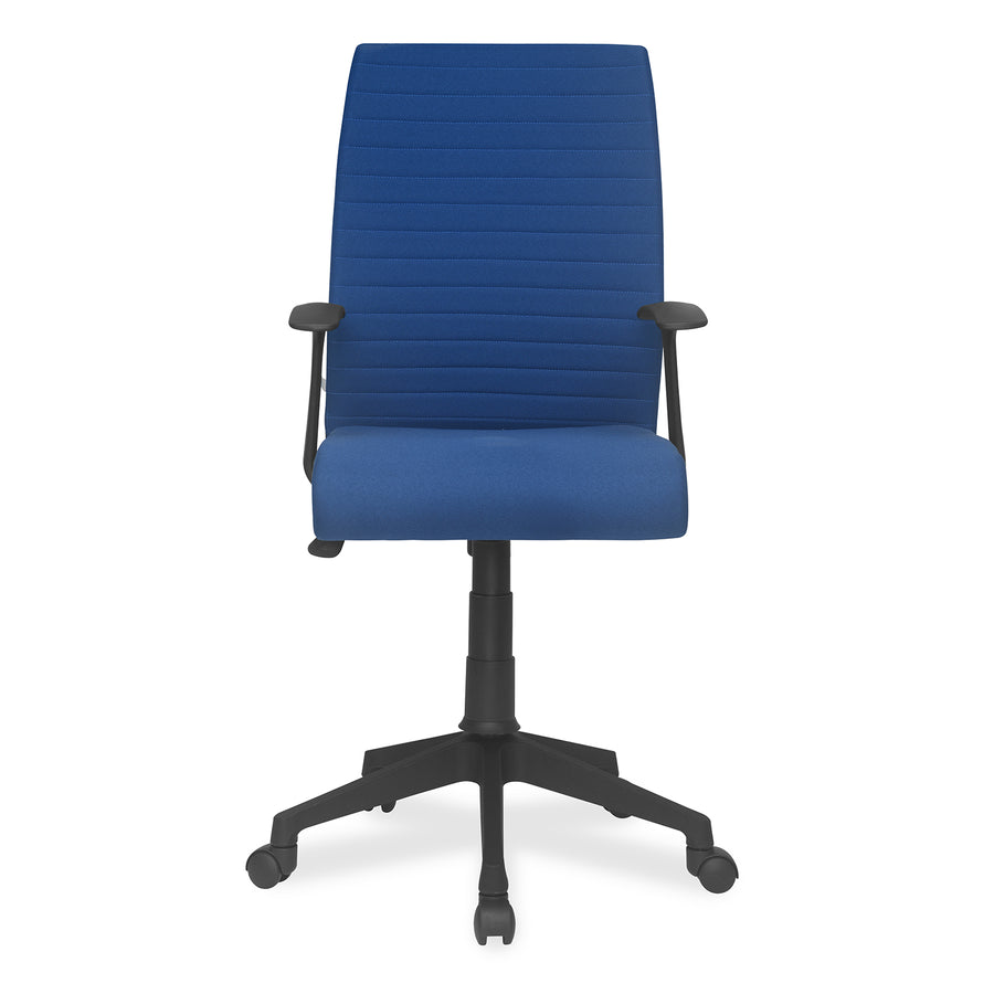 Nilkamal Thames Mid Back Fabric Chair (Blue)